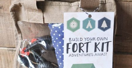 DIY Fort Kit with a Free Printable Gift Tag