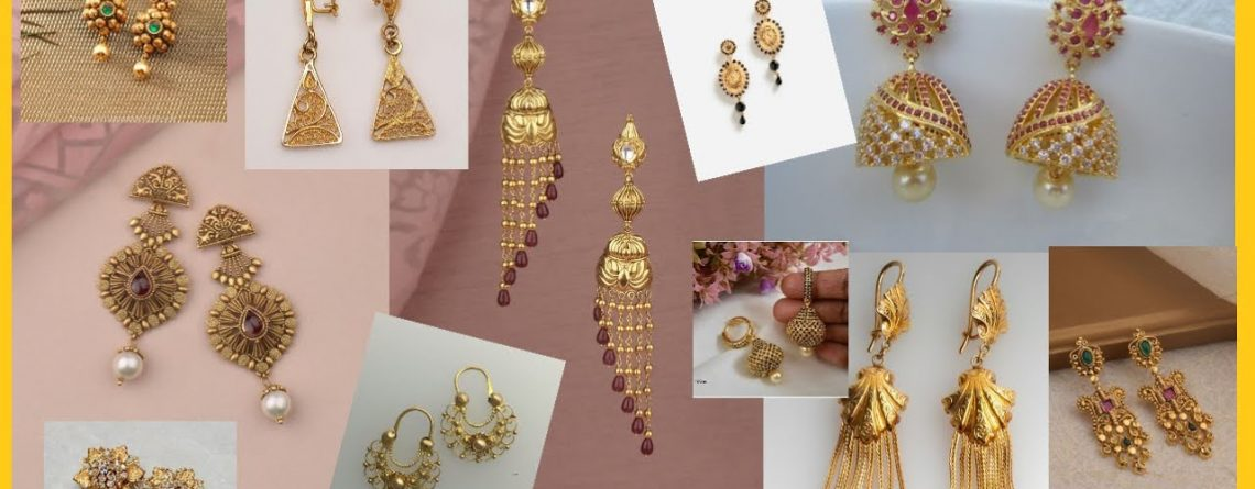 Daily Wear Gold EarringsJewellery Earrings For Girls Fashion Trends Sam