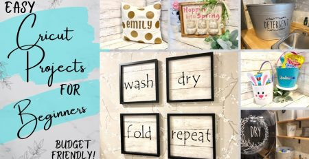 Easy Cricut Projects for Beginners DIY Home Decor Personalized Gifts