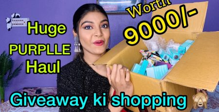 February month PURPLLE HAUL Shopping for GIVEAWAY Style