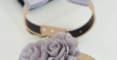 Handmade flower bow tie collar