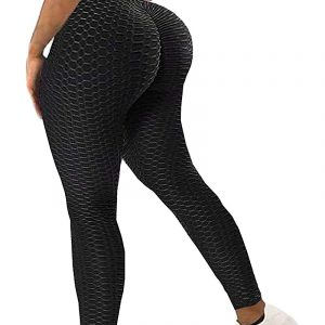 High Waist Ruched Leggings Black