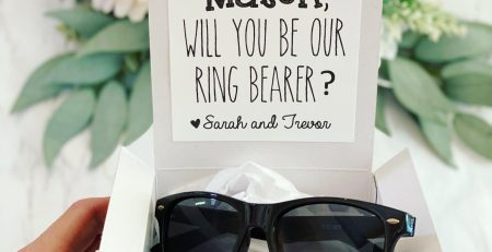 Ring Bearer box with Sunglasses