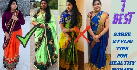 Saree Styling Tips For Plus Size women Clothing Plus Size