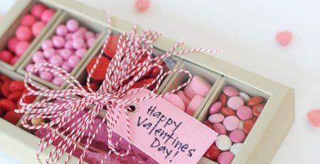 Super Cute DIY Valentines Candy Gift Box Craft Red
