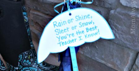 Teacher Gift Idea Umbrella with Simple Appreciation Poem