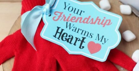 Your Friendship Warms My Heart Gift Tag FREE Printable