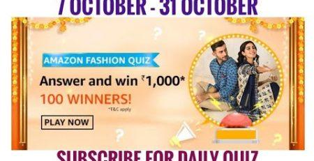 Amazon Fashion Quiz Answers Today Win 1000 Pay Balance