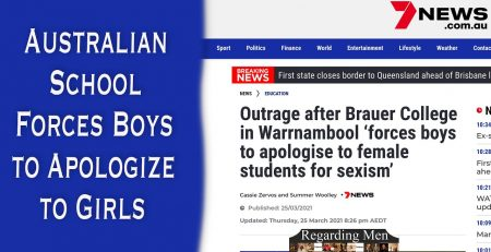 Australian School Forces Boys to Apologize to Girls