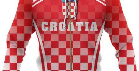 Croatia Zipper Hoodie S Style J9 Zipped Hoodie