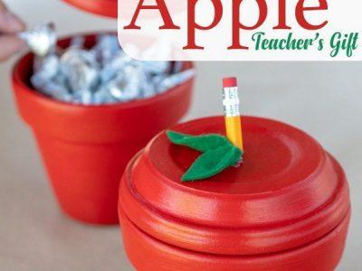 Easy 2 DIY Apple Pot Teacher Gift