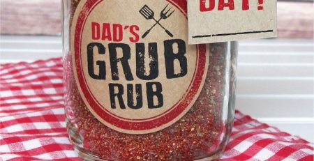 Fathers Day BBQ Spice Rub with Free Printables