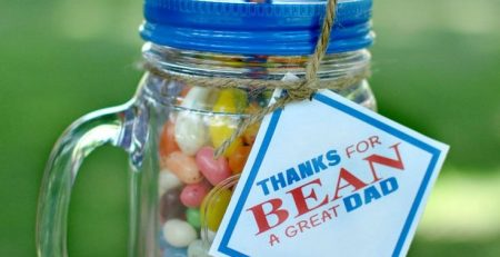 Fathers Day Beans Gift Idea with Free Printable