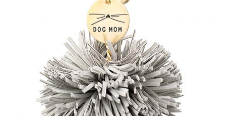 Gray Dog Mom Pom Tassel Keychain from The Gray Label