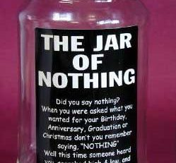 Jar of Nothing the perfect present for the picky prick