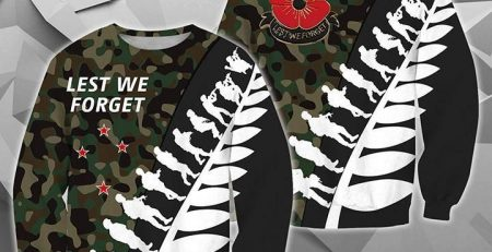 Lest We Forget New Zealand Hoodie Camo K5