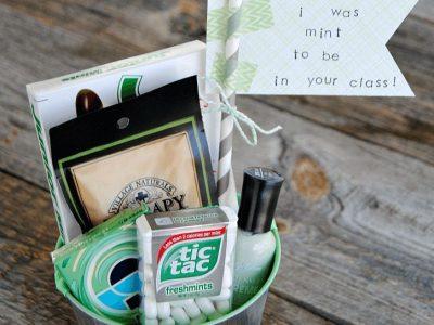 Mint Themed Teacher Gift Easy Affordable