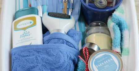 Mothers Day Gift Basket with DIY Foot Soak
