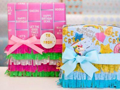 Pinata Inspired Birthday Gift Wrapping