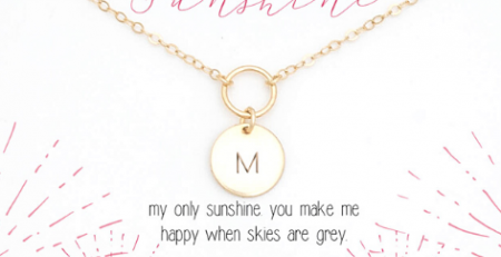 You Are My Sunshine Open Circle Necklace from The Gray
