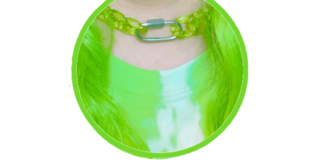 CHOKER ICE GREEN CHAIN LINK NECKLACE