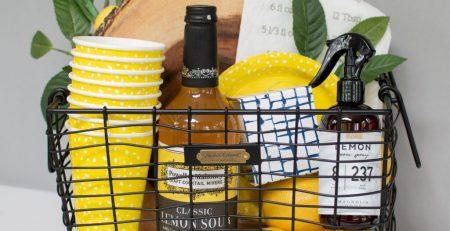 DIY Summer Gift Basket Target Magnolia Home Finds Lemon Theme