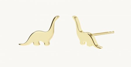 Dinosaur Stud Gold Vermeil