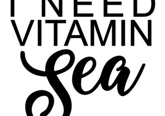 I Need Vitamin Sea Decal 2 Red
