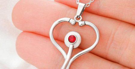 Isle of Man Celtic Necklace Stethoscope Isle of