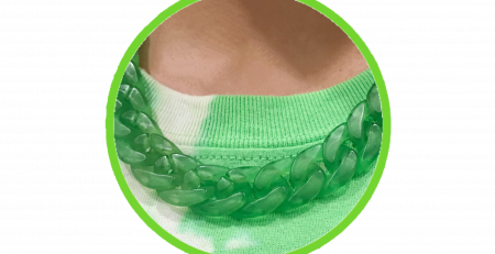 MATTE LIME GREEN CHAIN LINK NECKLACE