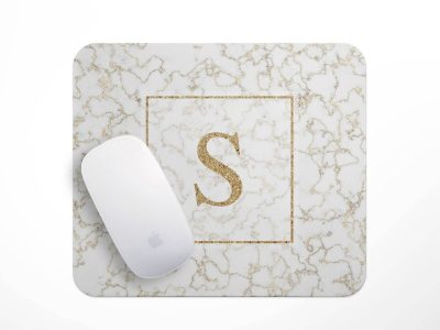 Personalized Mouse Pad Marbel and Faux GoldPersonalized Holiday GiftsPersonalized Office