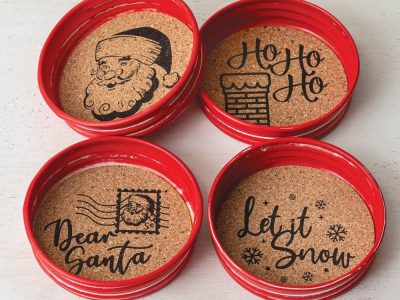 Set of Four Holiday Coasters