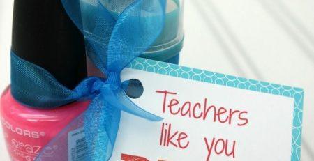 Teacher Nail Polish Gift Idea FREE Printable Tag