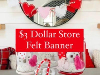 3 Dollar Tree Valentines Day banner