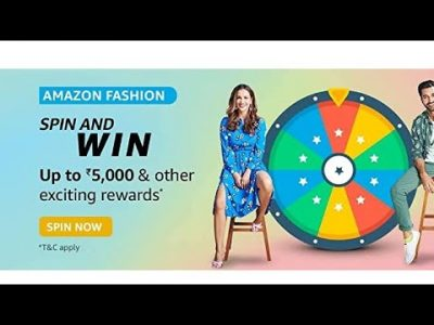 AMAZON FASHION spin and win up to 5000 amp other
