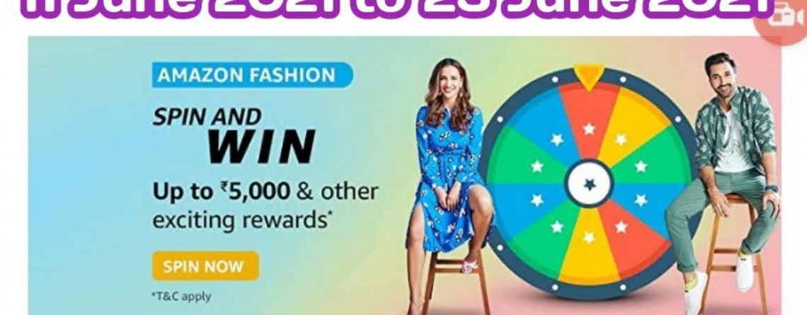 Amazon Fashion Spin and Win Answers Today11 June 2021 Daily