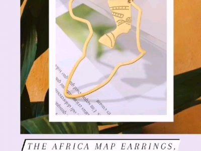 Boho hippie big Africa map drop earrings for women in