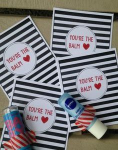 Chapstick Card Free Printable Youre the Balm Paper Trail