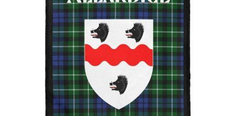 Clan Allardice Scottish Tartan Plush Blanket 30 × 40