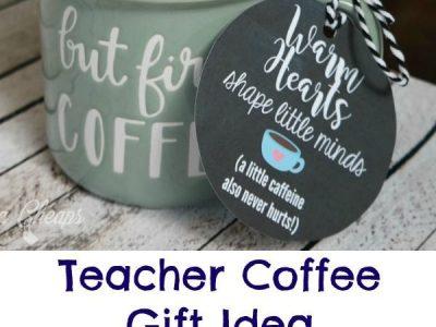 Coffee Mug with Gift Card Teacher Gift Idea Printable
