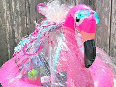 Flamingo Float Summer Basket