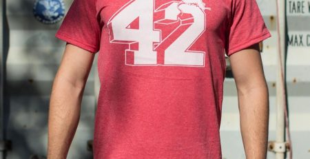 Forty Two T Shirt Mens Medium Red