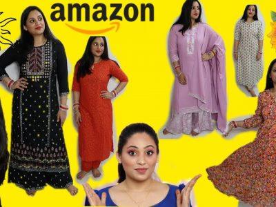 HUGE AMAZON FASHION HAUL Summer Clothing KURTA SETS KURTAS DRESSES