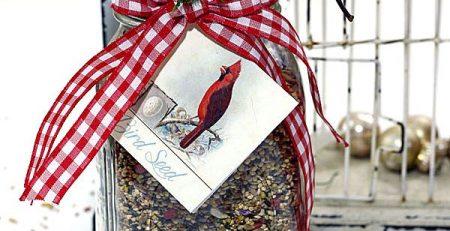 Homemade Gift for Bird Lovers Tutorial So Lovely