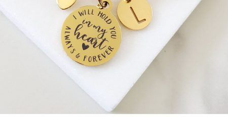 In Memory of Mom Loss of Loved One Simple Gold
