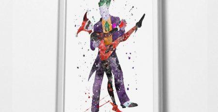 Joker Watercolor Art Print A3 Print 48x33cm