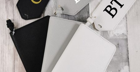 Joxie Personalised Monogram Passport Holder And Luggage Tag White
