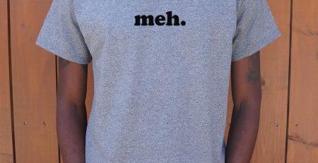 Meh T Shirt Mens Medium Royal Heather