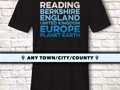 Reading Town T Shirt Berkshire Gift Idea Readingite Tee Shirt Top