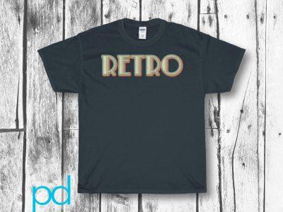 Retro Vintage 60s 70s Old Worn Style Funky Heavy